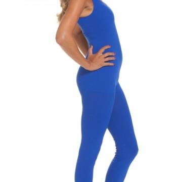 Lange blauwe body